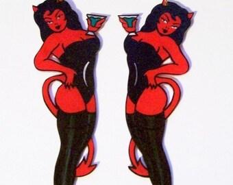 devil girl earrings