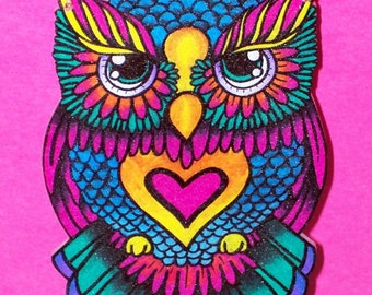 intricate owl necklace