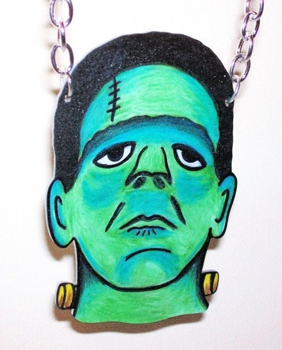 halloween horror frankenstein necklace