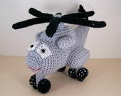 CH 53 Helicopter , Crocheted Amigurumi Military Ch 53 Sea Stallion Helicopter , stuffed helicopter toy (MADE To ORDER)