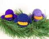 Crochet amigurumi birds - Set of three sweet little birds