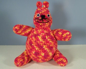 Crochet amigurumi Stuffed Cat Plush, Crocheted Cat -  Casey Cat