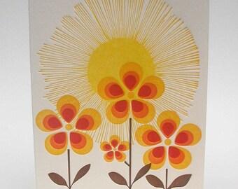 4B You are my Sunshine letterpress notecard