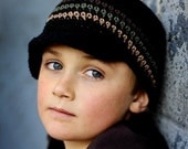 Children's Visor Beanie - black, chocolate, army green, army tan