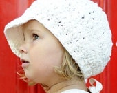 Children's Newsgirl Beanie - vanilla