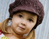 Children's Newsgirl Beanie - chocolate