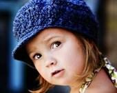 Children's Newsgirl Beanie - navy