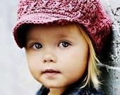Baby Newsgirl Beanie - dark rose