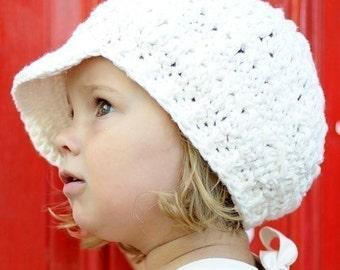 Children's Newsgirl Beanie - vanilla