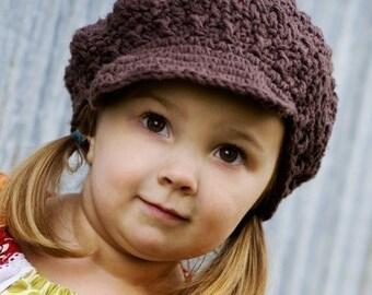 Children's Newsgirl Beanie - chocolate