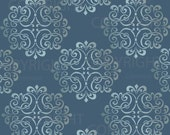 1012 Large Wall Damask Pattern Stencil 12 inch x 12 (material size)  faux mural