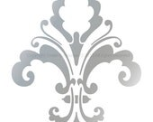 """FLEUR DE LIS Designer Chic Decor Stencil for Wall Decor Curtains Cakes Damask Mural 3004 Size 6"""" x 7.6"""" Many Additional Sizes"""