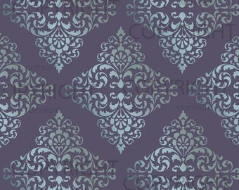 Large WALL DAMASK STENCIL Pattern  Faux Mural 1018