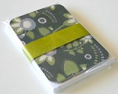 Gray and Lavender Flat Notecard Set
