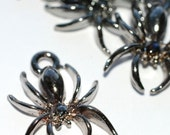 Spider Charms Lot of 6 Black (C14BL)