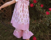 Girls Pillowcase Dress and Ruffle Pants - SPECIAL SALE - Hoo's in the Forest Pink by Riley Blake - Sizes: 2/3 4/5