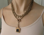 On RESERVE Antique Victorian Fob Necklace
