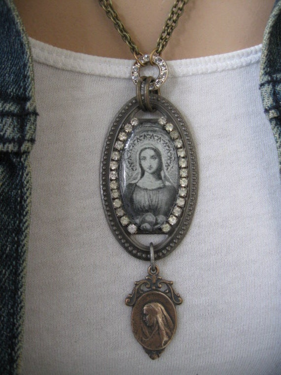 Devotion... vintage assemblage necklace