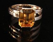 Radiance - Golden Citrine ring