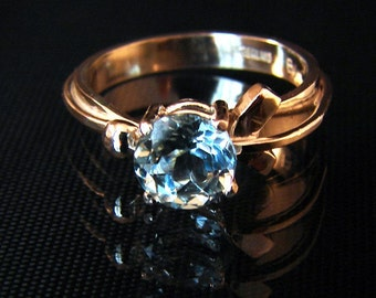 Path - Blue Topaz gemstone Ring
