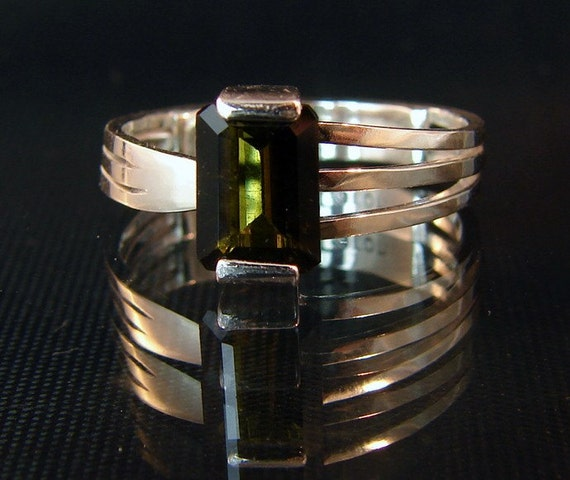 Join The Band - Green Tourmaline Ring