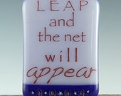 LEAP Fused Glass Quote NIGHT LIGHT