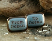 From OCEAN To Ocean Fused Glass Cuff Links ATLAS SHRUGGED