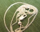 19 Inch Sterling Silver Delicate Chain