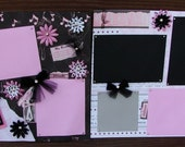 12X12 Ballet Premade,Pre-Made,Premade 2 Page Scrapbook Layout