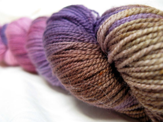 Royal Tenenbaum Kettle Dyed Superwash Merino Sock Yarn 400yds
