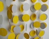 Garland 12' Yellow and Gray Circles