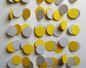 Paper Garland 18' Yellow and Gray Circles