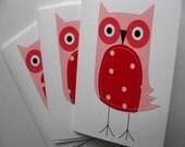 Stitched Polkadot Owls Set