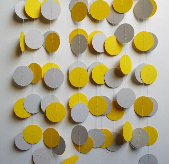 Garland 15' Yellow and Gray Circles