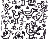 GARDEN GROUPIES clear unmounted polymer stamp to be cut up and used