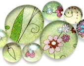 Marble Magnets in Flowers Fall - All Proceeds Benefit Charity