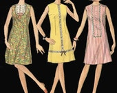 Vintage 1966 Sweet Sixties One Piece Sleeveless Dress Pattern Size 12