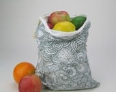 Single Large Happy  Reusable Vegetable Bag in Paisley