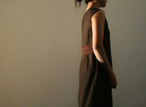 WOOL DRESS / grey wool dress / autumn, winter / women's clothing / etsy australia / handmade by pamelatang