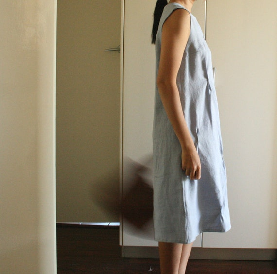 LINEN DRESS . size small . ready to ship (last piece). womens and maternity clothing. spring. handmade by pamelatang