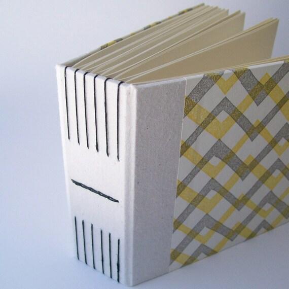 SALE: Handmade Album in Ochre ZigZag (Small)