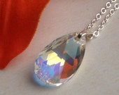 Bette Necklace - Sterling Silver & Swarovski - Bridesmaid Jewelry