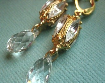 Edith Earrings - Vintage Swarovski