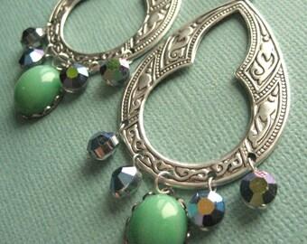 Jasmine Earrings - Silver & Vintage Swarovski