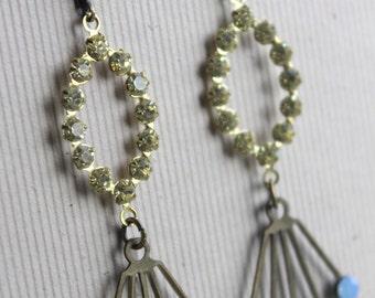 Marla Earrings - Pastels - Vintage Glass & Swarovski