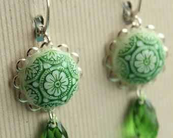 Lisa Earrings - Glass - Swarovski - Silver