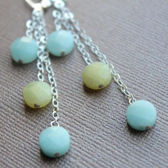 Rebekah Earrings - Sterling Silver - Stone Beads