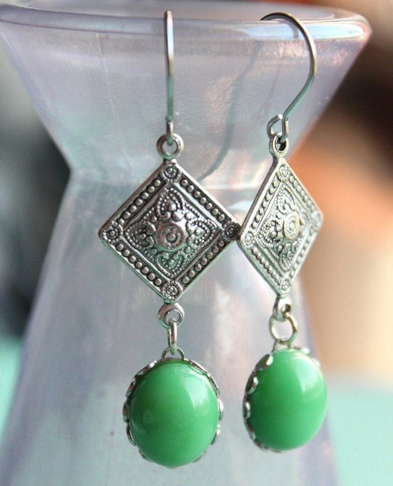 Esther Earrings - Vintage Swarovski & Silver