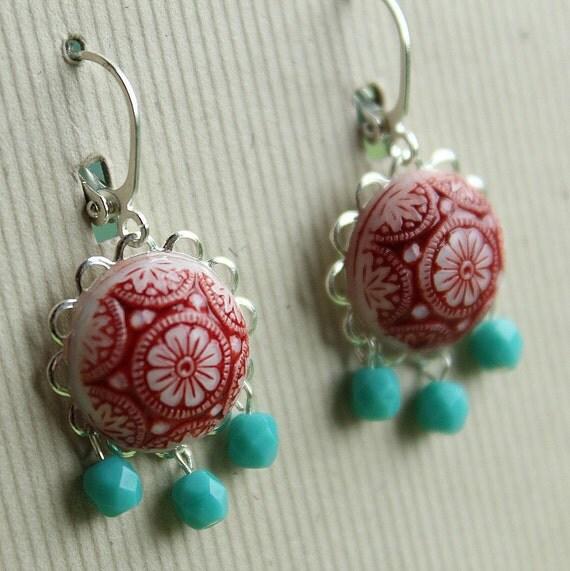 Clara Earrings - Glass & Silver