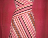 Pink and Chocolate Styling in Stripes
